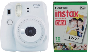 Fujifilm Instax Mini 9 Smokey White + Instax Mini Glossy