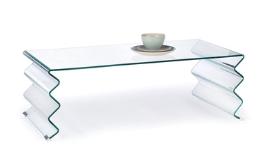 Kavos staliukas Roxana skaidrus, 120 x 60 x 42 cm