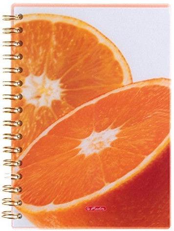 Herlitz Spiral Notepad A5/100p Orange