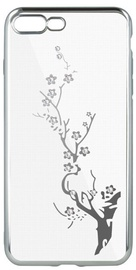 Beeyo Glamour Series Branch Back Case For LG K8 2018 Transparent/Silver