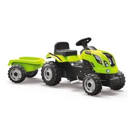 Vaikiškas traktorius su pedalais, žalias