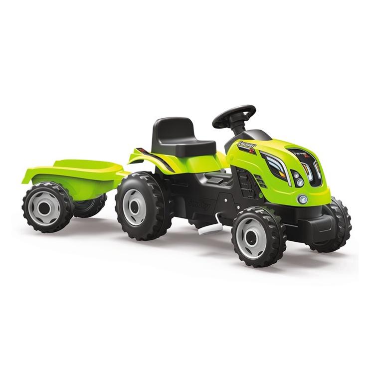 Bērnu traktors ar piekabi Smoby Farmer XL, zaļš 7600710111