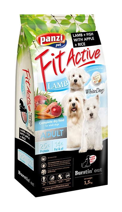 Сухой корм для собак Panzi FitActive Hypoallergenic Adult White Dogs Lamb & Fish 1.5kg