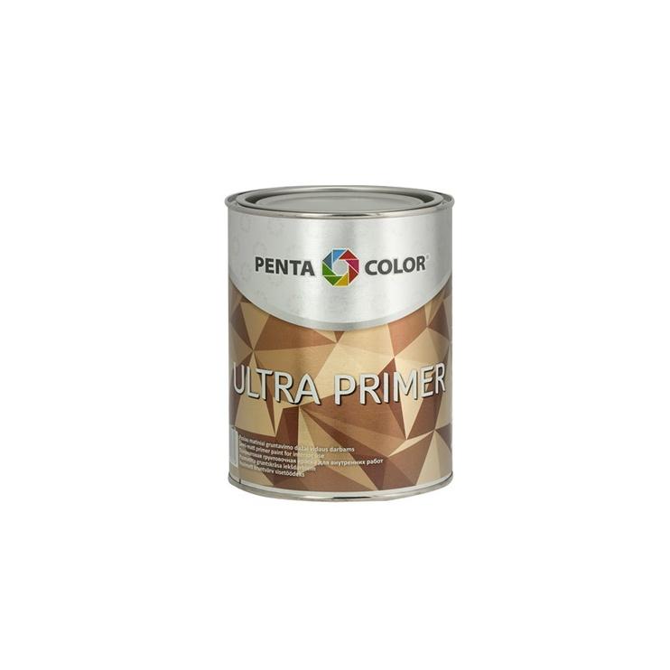 Krāsa iekšdarbiem Pentacolor Ultra Primer, 1 l, balta