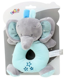 Axiom New Baby Rattle Elephant Blue 16cm 4951f