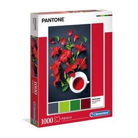 Dėlionė Clementoni Pantone raudonos gėlės 39494, 1000 dalių