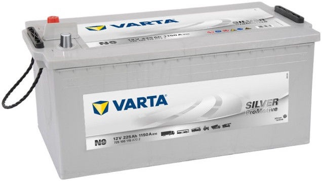 Аккумулятор Varta ProMotive HD Silver N9, 12 В, 225 Ач, 1150 а