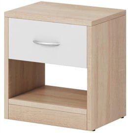 WIPMEB Naka 1S Bedside Table Sonoma Oak/White Mat