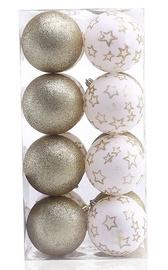 Ziemassvētku eglītes rotaļlieta DecoKing Luna White/Gold, 16 gab.