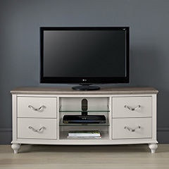 TV galds MN Montreux 6290-25-2 White, 1350x410x580 mm