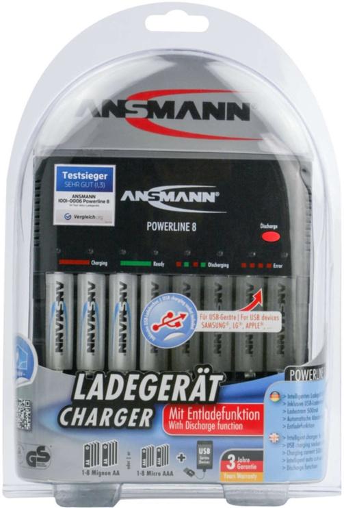Elementu lādētājs Ansmann Powerline 8