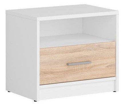 Black Red White Nepo Plus Night Stand White/Sonoma Oak