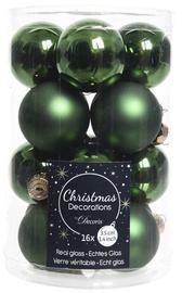 Jõulupuu ehe Decoris 9010363 Green, 35 mm, 16 tk