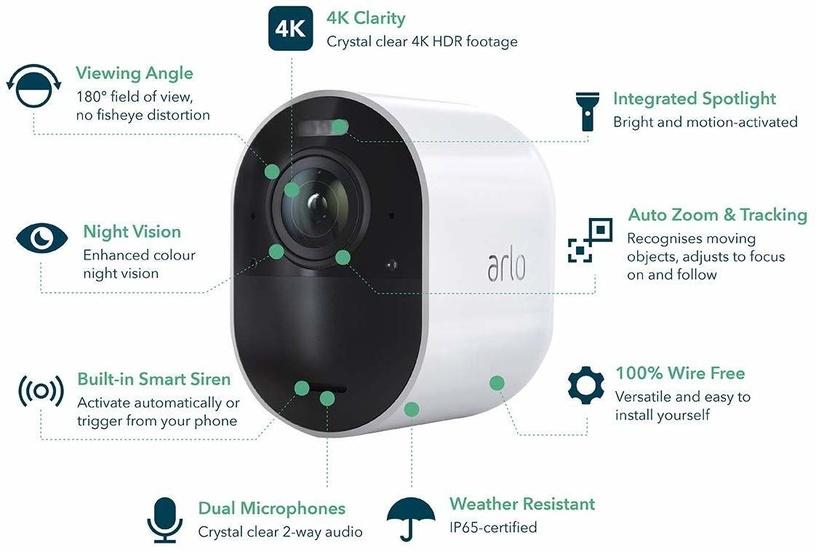 Arlo Ultra Smart Home Security 2 Cameras
