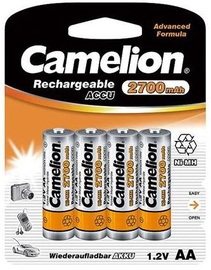 Camelion Rechargeable Batteries Ni-MH 4x AA (R06) 2700mAh + Battery case