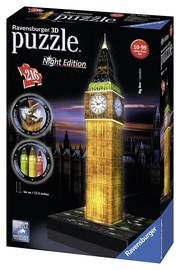 3D puzle Ravensburger 3D Big Ben London With Lights 125883, 216 gab.
