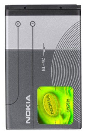 Аккумулятор для телефона Nokia, Li-ion, 860 мАч