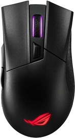 Spēļu pele Asus ROG Gladius II Black, bezvadu, optiskā
