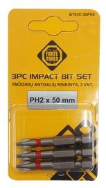Uzgaļi triecienskrūvgriezim Forte Tools PH2, 50mm, 3gab.