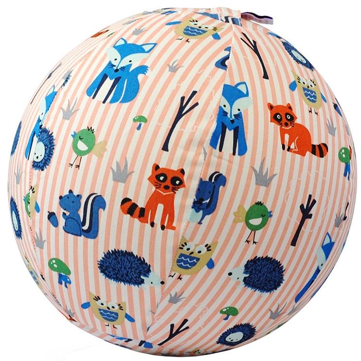 BubaBloon Balloon Ball Animal Stripes Pink