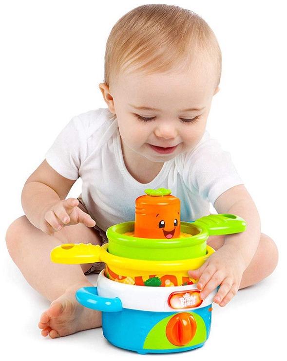 Interaktyvus žaislas Bright Starts Stack & Giggle Pots 52127