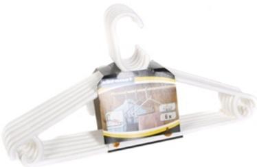 Coronet Plastic Hanger Set 6pcs White