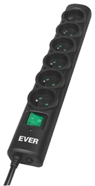 Ever Power Strip 6 Outlet 5m Black