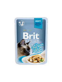Pašarų papildai katėms Brit Premium Cat Delicate Chicken in Gravy, 85 g