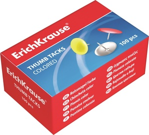 ErichKrause Thumb Tacks Colored 100pcs 24876