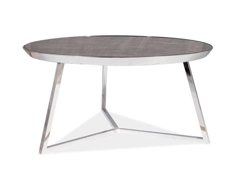 Kafijas galdiņš Signal Meble Temida B Marble/Chrome, 760x760x400 mm