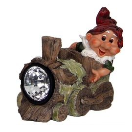 SN Decorative Dwarf With Train Solar LED NF13013-2
