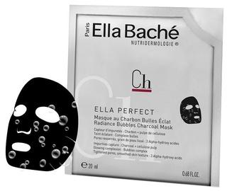 Veido kaukė Ella Bache Radiance Charcoal Bubble Mask, 20 g