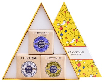 L´Occitane Shea Lavender Extra Gentle Soap 100g + 100g Shea Milk Soap + 100g Shea Verbena Soap