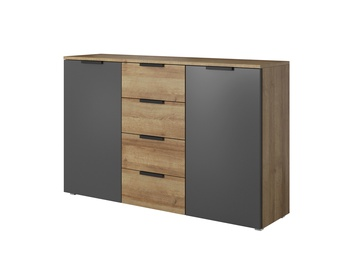 Idzczak Meble Malmo 2D4S Chest Of Drawers Riviera Oak/Graphite