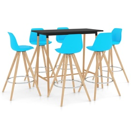 Обеденный комплект VLX 287251, синий/коричневый