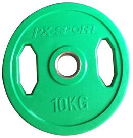 PX Sport Weight Disc Green Rubber 10kg
