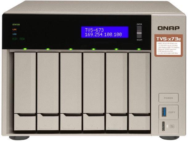 QNAP Systems TVS-673e-4G NAS 6-Bay