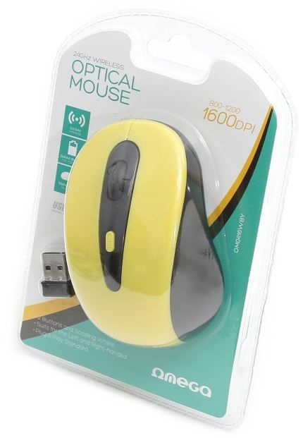 Omega Optical Mouse Black/Yellow
