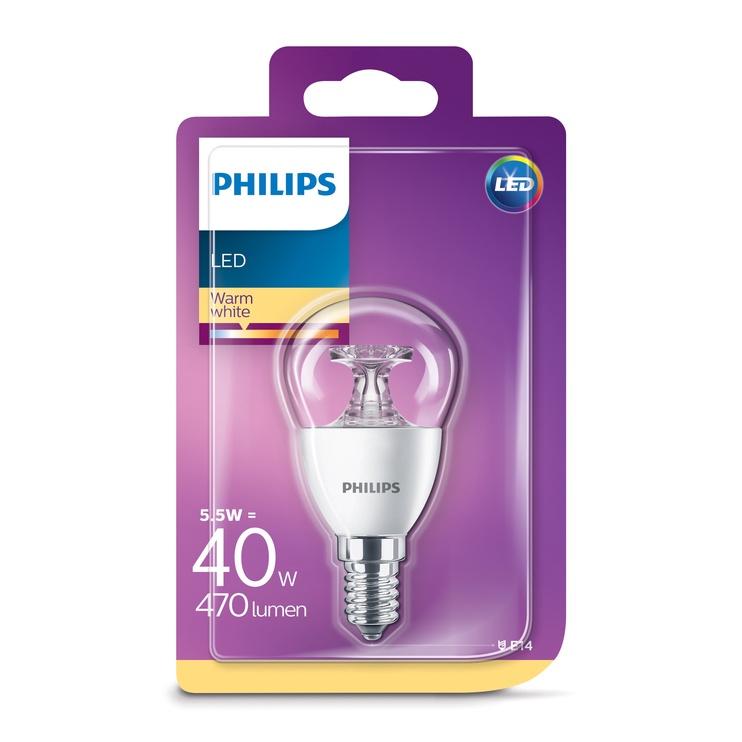 Lambipirn Philips 5,5W LED E14 P45 470LM