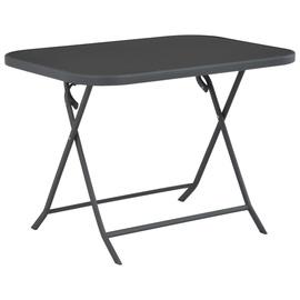Садовый стол VLX Folding Garden Table 44711, серый, 100 x 75 x 72 см