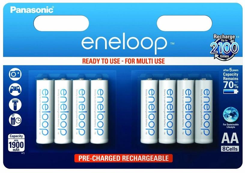 Panasonic Eneloop Rechargeable Battery 8 x AA 1900mAh