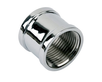 """TDM Brass 600.60/220C Connector V/V 1/2"""" Chrome"""