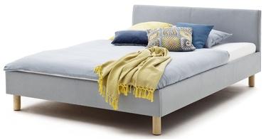 Кровать Meise Möbel Lena Upholstered Bed 140x200cm Ice Blue