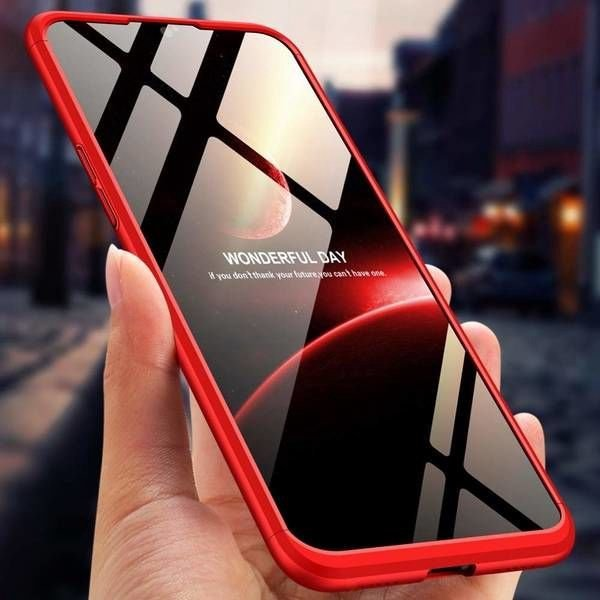 GKK 360 Protection Case For OnePlus 6T Red