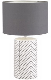 Fischer & Honsel 50090 Table Lamp 40W E27 White/Gray