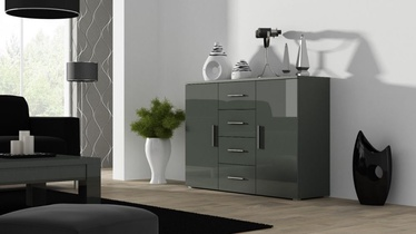 Cama Meble Uni Chest Of Drawers Grey/Grey Gloss