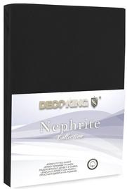 Простыня DecoKing Nephrite, черный, 140x200 см, на резинке