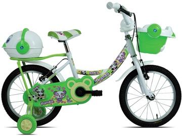 """Vaikiškas dviratis Esperia Game Girl Panda, baltas/žalias, 14"""", 14"""""""