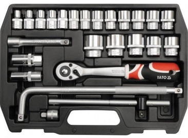 "Yato YT-38741 Socket Set 1/​2"" 10-32mm 25pcs"