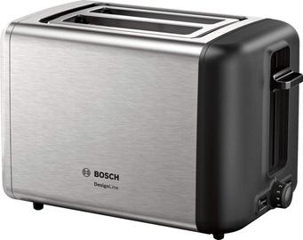 Tosteris Bosch TAT3P420DE, melna/nerūsējošā tērauda